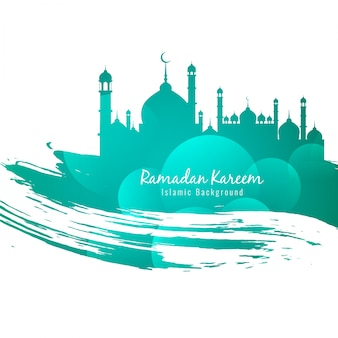 Background of ramadan kareem with mosque