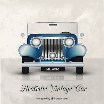 Background of realistic vintage car