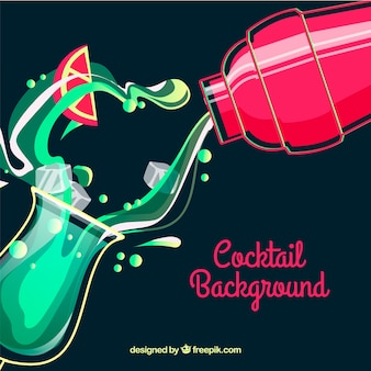 Background of refreshing cocktail
