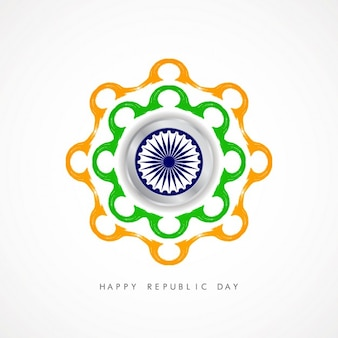 Background of Repulic day with ashoka chakra