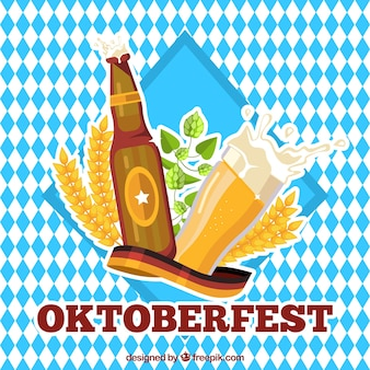 Background of rhombuses of festival oktoberfest