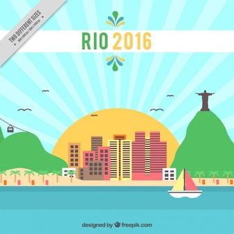 Background of rio 2016 with landscape