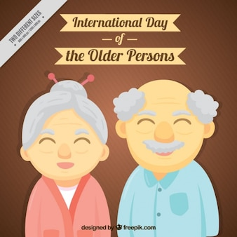 Background of smiling elderly couple