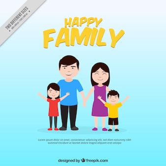 Background of smiling family