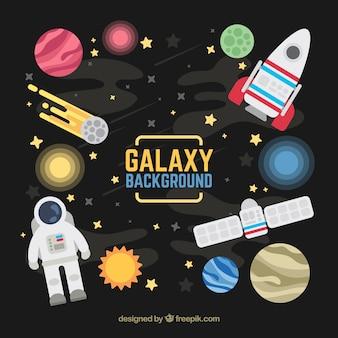 平面設計における宇宙要素の背景