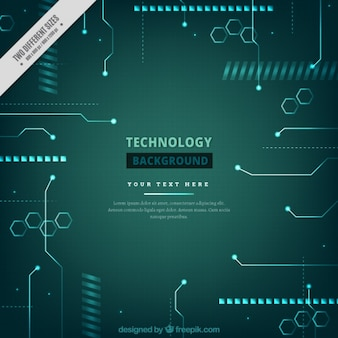 Background of technological shapes