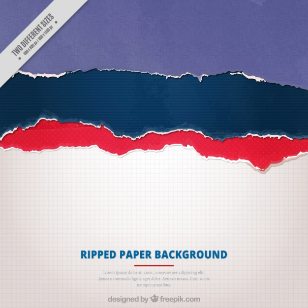 Background of torn colored papers