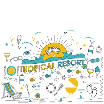 Background of tropical resort