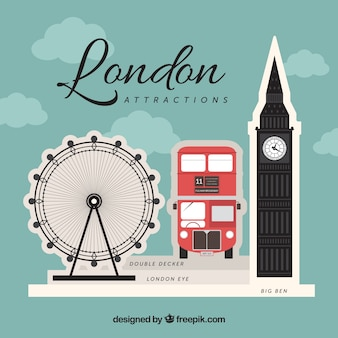 Background of typical london elements
