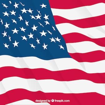 現実的なデザインの国旗の背景