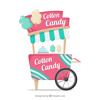 Background of vintage cotton candy cart