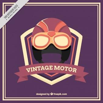 Background of vintage motorcycle helmet