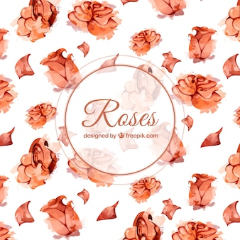 Background of watercolor roses