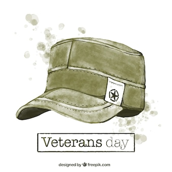 Background of watercolor veterans day
