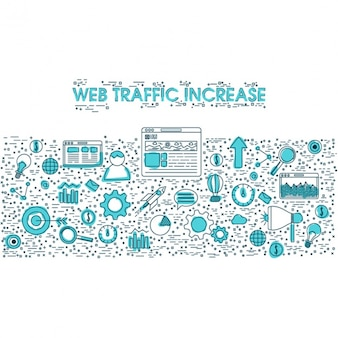 Background of web traffic increase