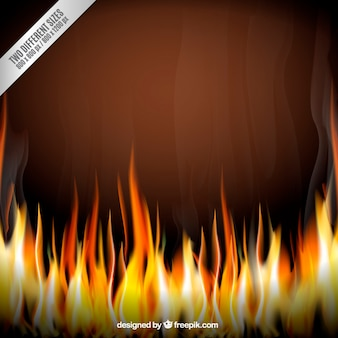 Background on fire