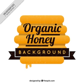 Background organic honey with honeycomb