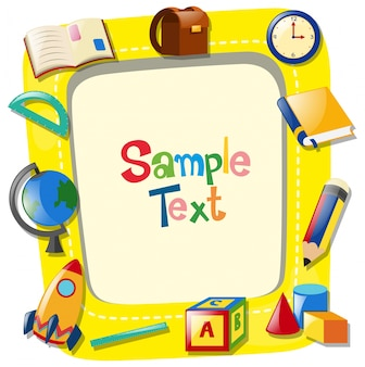 Background template with different types of stationaries