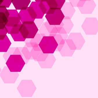 Background template with pink hexagon shapes