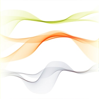 Background with 3 abstract elegante wavy shapes