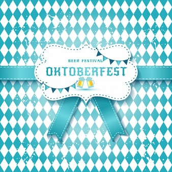 Background with a blue tie for oktoberfest