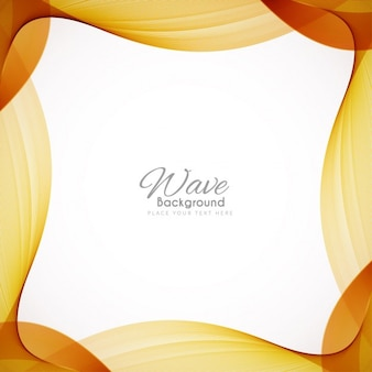 Background with a brown wavy frame