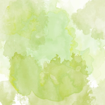 Background with a green watercolor texture