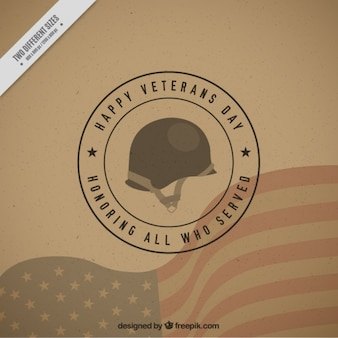 Background with a military helmet for veterans day