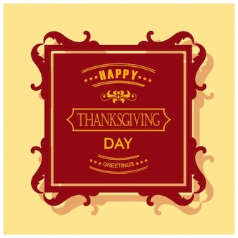 Background with a square label for thanksgiving day