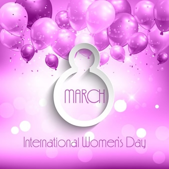 Background with balloons for international women's day