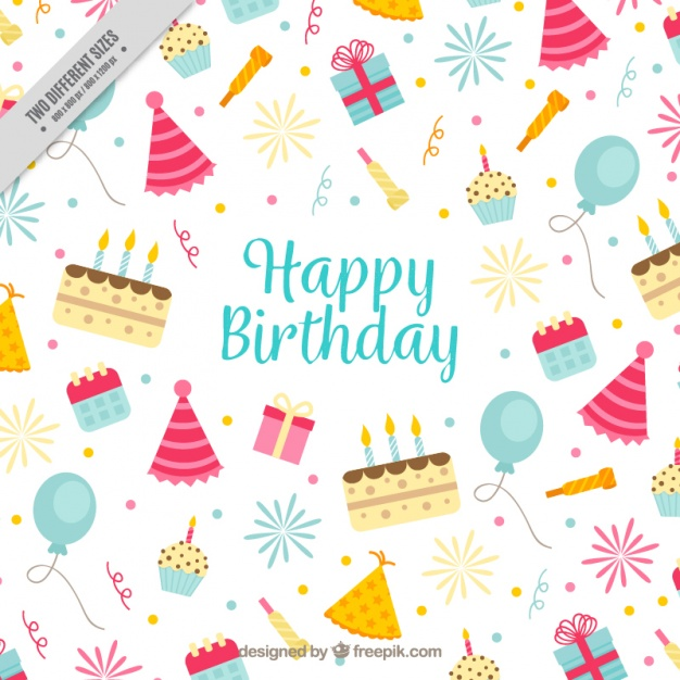 Background with birthday elements