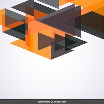 Background with black and orange triangles
