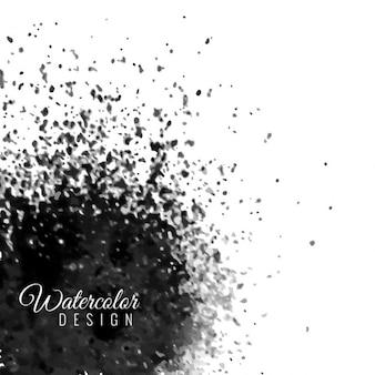 Background with black color splash