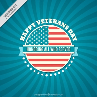Background with blue lines for veterans day
