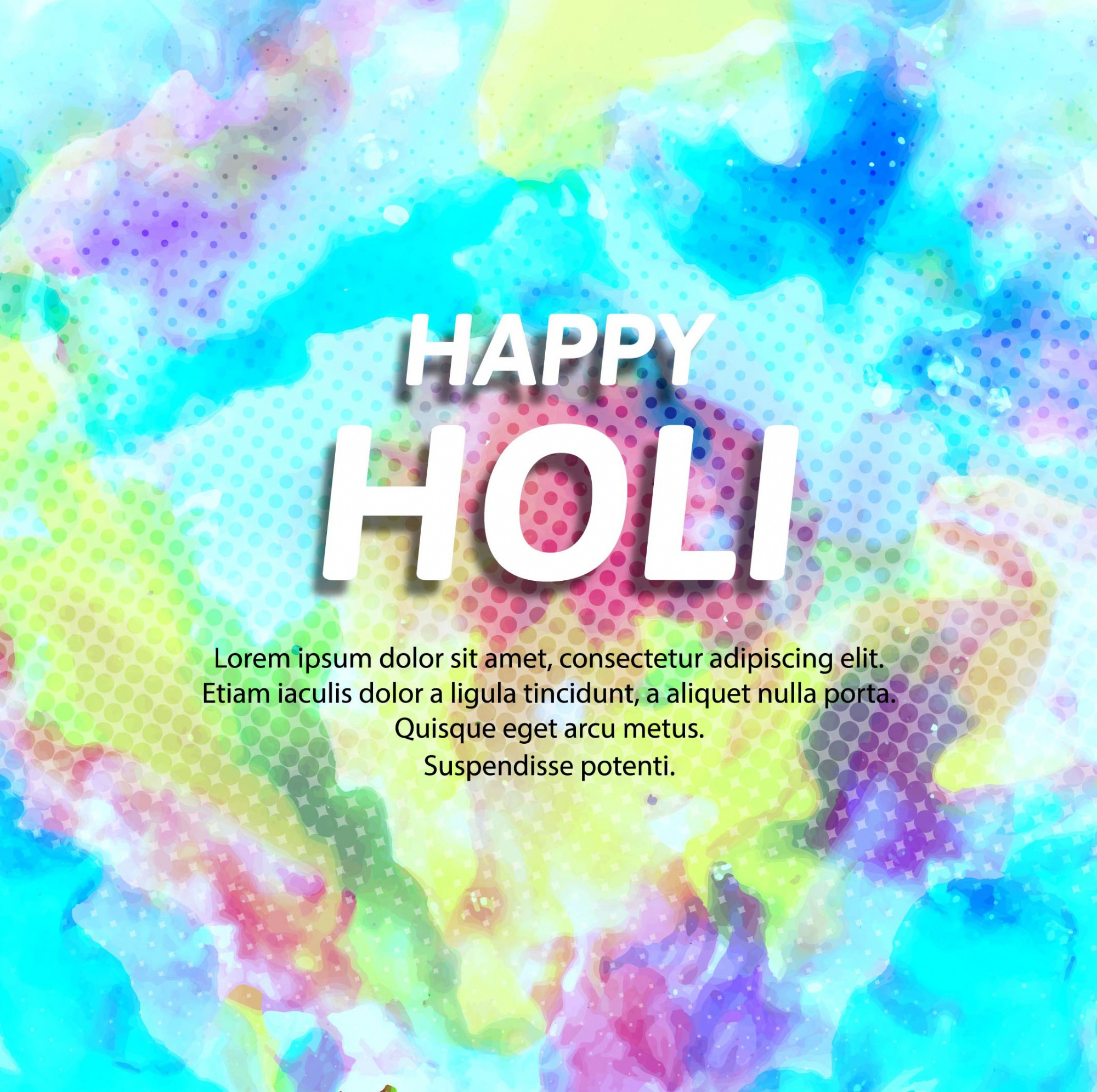Background with blue tones for holi festival