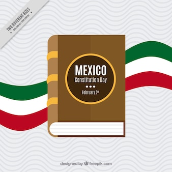 Background with book of the mexico constitution