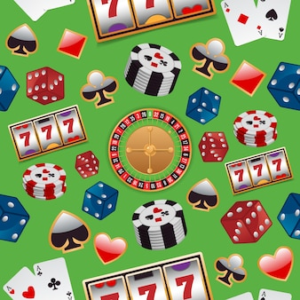 Background with casino elements