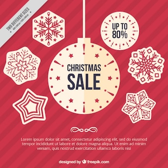 Background with christmas sale stickers