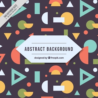 Background with colored geometric shapes