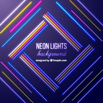 Background with colored neon lights