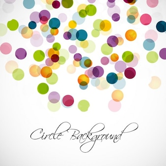Background with colorful translucent dots