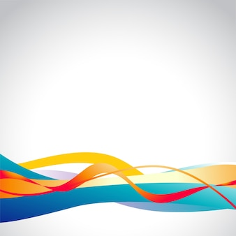 Background with colorful wavy shapes
