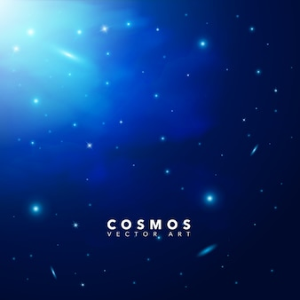 Background with cosmos design