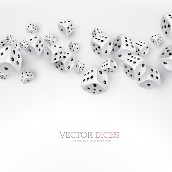Background with dice, casino
