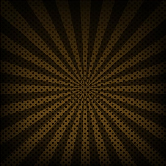 Background with dots and rays