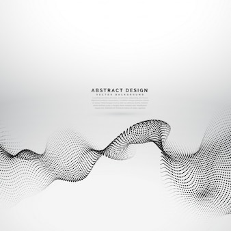 Background with dotted waves