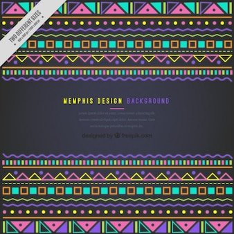 Background with ethnic colored shapes