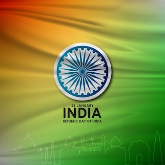 Background with fabric texture, republic day of india