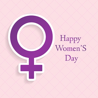 Background with female gender symbol