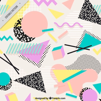 Background with flat geometric shapes